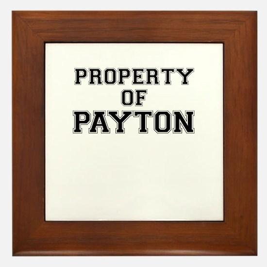 Property of PAYTON Framed Tile