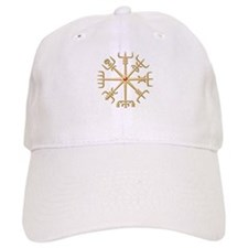 Gold Viking Compass (wide) Baseball Cap