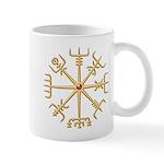 Gold Viking Compass (wide) Mug Mugs