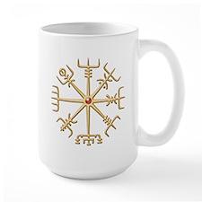 Gold Viking Compass (wide) Mug