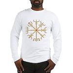 Gold Viking Compass (wide) Long Sleeve T-Shirt