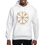 Gold Viking Compass (wide) Hooded Sweatshirt