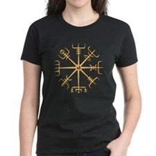 Gold Viking Compass (wide) Tee