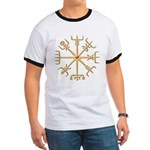 Gold Viking Compass (wide) Ringer T