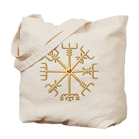 Gold Viking Compass (wide) Tote Bag
