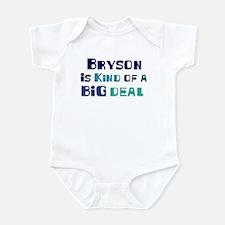 Bryson is a big deal Infant Bodysuit
