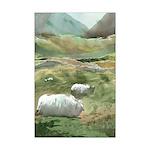 Irish Sheep Mini Poster Print
