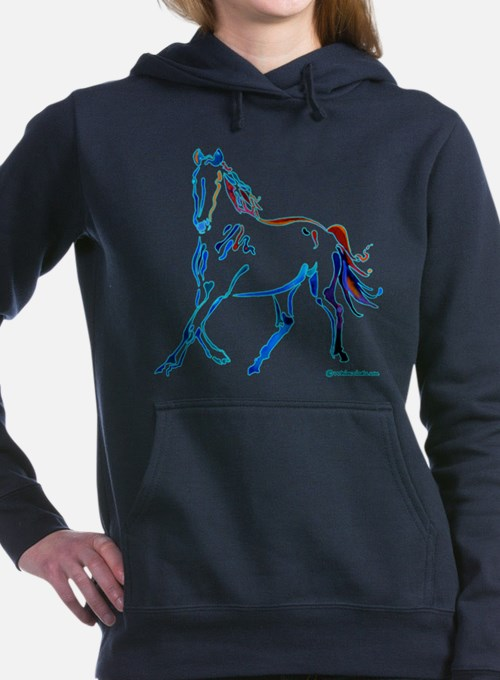Cute Horses Women's Hooded Sweatshirt