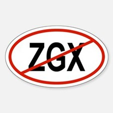 ZGX Oval Decal