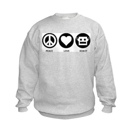 Peace Love Robot Kids Sweatshirt