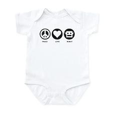 Peace Love Robot Infant Bodysuit