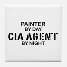 Painter CIA Agent Tile Coaster