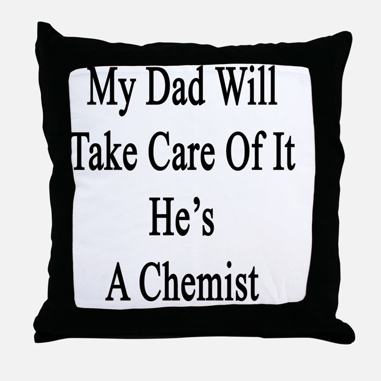 Cute Chemistry students Throw Pillow