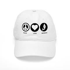 Peace Love Mermaid Baseball Cap