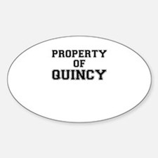 Property of QUINCY Decal