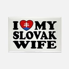 I Love My Slovak Wife Rectangle Magnet