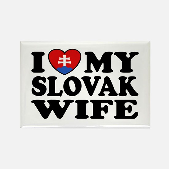 I Love My Slovak Wife Rectangle Magnet