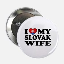 "I Love My Slovak Wife 2.25"" Button"