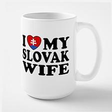 I Love My Slovak Wife Large Mug