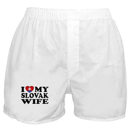 I Love My Slovak Wife Boxer Shorts