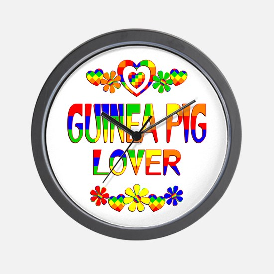 Guinea Pig Lover Wall Clock