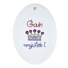 Gavin - Mommy's Little Prince Oval Ornament