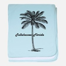 Black and White Tallahassee & Palm de baby blanket