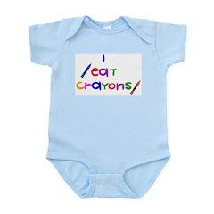 I Eat Crayons Infant Creeper