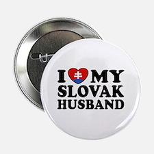 "I Love My Slovak Husband 2.25"" Button"