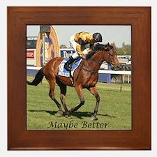 Cute Racehorse Framed Tile