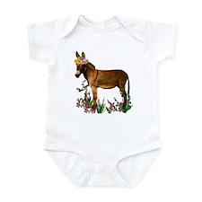 Burro in Straw Hat Infant Bodysuit