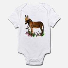 Burro in Straw Hat Infant Bodysuit