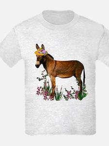 Burro in Straw Hat T-Shirt