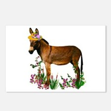Burro in Straw Hat Postcards (Package of 8)