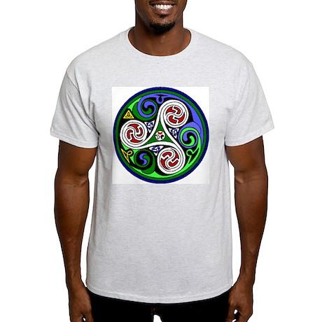 Colored Triskel Ash Grey T-Shirt