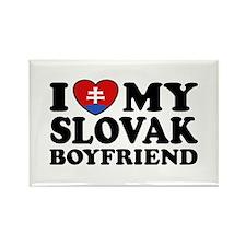 I Love My Slovak Boyfriend Rectangle Magnet