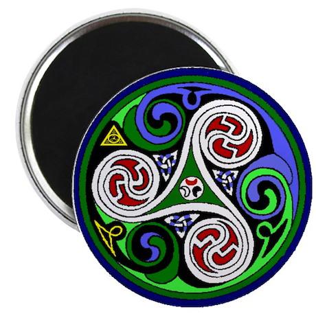 """Colored Triskel 2.25"""" Magnet (100 pack)"""
