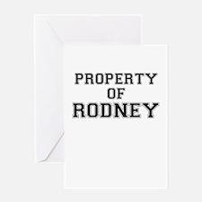 Property of RODNEY Greeting Cards