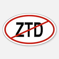 ZTD Oval Decal