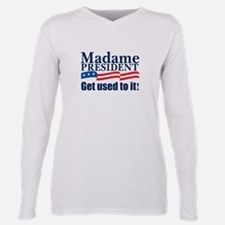 Unique Hillary president Plus Size Long Sleeve Tee