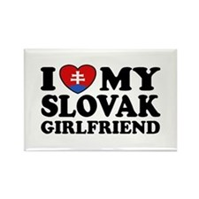 I Love My Slovak Girlfriend Rectangle Magnet