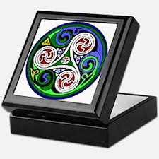 Colored Triskel Keepsake Box