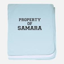 Property of SAMARA baby blanket