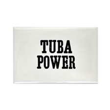 Tuba power Rectangle Magnet