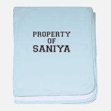 Property of SANIYA baby blanket