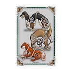 Celtic Dogs Mini Poster Print