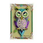 Celtic Owl Mini Poster Print