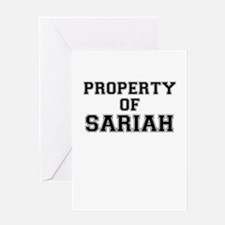 Property of SARIAH Greeting Cards