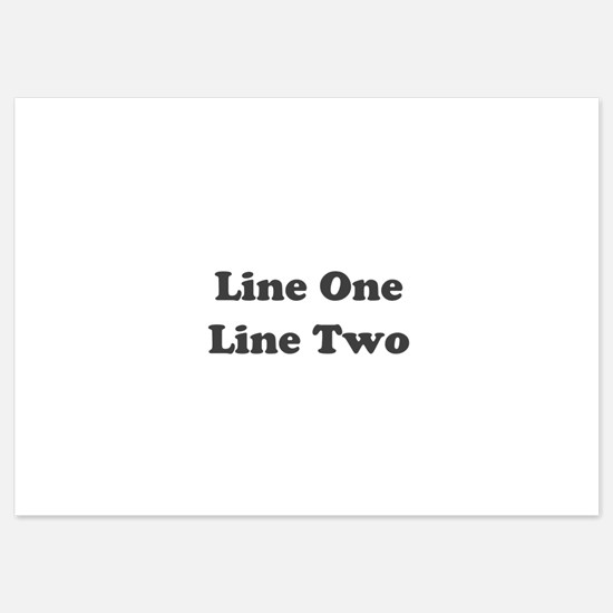 Two Line Custom Message Invitations