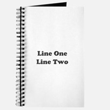 Two Line Custom Message Journal